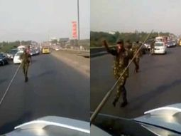 Nigerian cadets insulted civilians after causing traffic jam on expressway