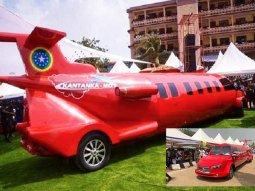 Ghana Kantaka automaker unveils a 40ft-long Aeroplane Limousine
