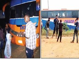 Chisco Transport Service confronted by passengers over faulty bus