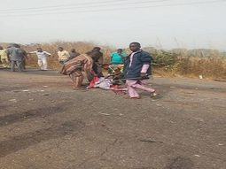 Truck crushes bus, allegedly kills all 13 passengers on expressway [VIEWER DISCRETION]