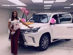 Ex-beauty queen, Dabota Lawson wows with ₦33m Lexus LX 570 purchase and music too!