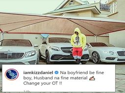 Kizz Daniel flaunts exotic cars in his garage via Instagram post
