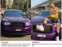 Controversy sparked after same car featured in Hushpuppi and Lil Pump's photos