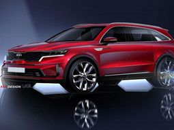 Kia teases with images of its upcoming SUV Sorento