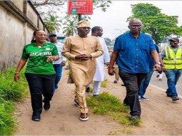 Sanwo-Olu repairs roads across Lagos State