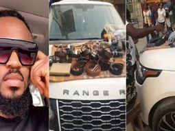 Film director's Range Rover turned into shop by belt seller at Computer Village