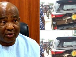 See the official car of Imo state governor after being attacked by angry youths in the state