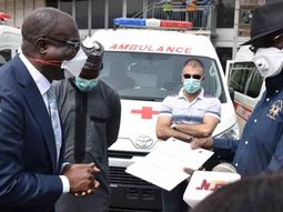 COVID-19: Minister of State Petroleum Resources, hands over five ambulances to Nigeria SGF