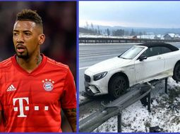 Jerome Boateng of Bayern Munich FC crashes ₦67.3million Mercedes-AMG S63 defying COVID-19 lockdown