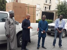 Nigerian Maritime Agency (NIMASA) presents ₦20million, ambulances, buses, ventilators to Lagos govt