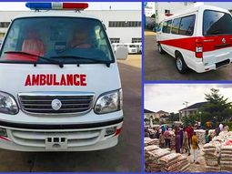 COVID-19: Nigeria's indigenous automaker, Innoson Motors donates ambulance and relief materials to Anambra state