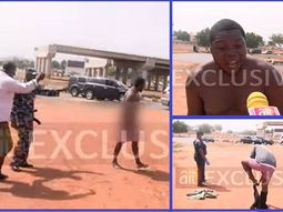 See the viral video of Abuja taxi driver that stripped naked after his car was impounded for violating lockdown order