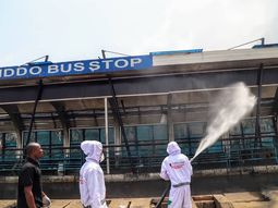 Lagos State Government partners with Julius Berger Plc to disinfect bus stops and major roads