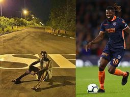 Togo paints and dedicates a special road to African Football star, Emmanuel Adebayor