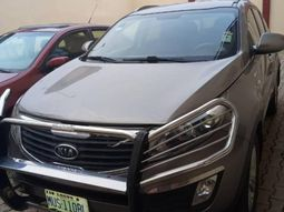 Locally Used 2011 Grey Kia Sportage for sale in Lagos.