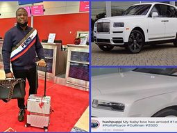 "Dubai-based Nigerian ""Big boy"", Hushpuppi takes delivery of a 2020 Rolls-Royce Cullinan SUV worth ₦117.2million"