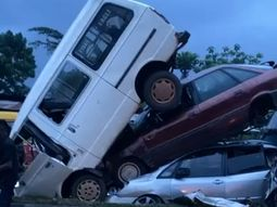 [Video] Multiple car accidents occur in Edo state as drivers try beat the COVID-19 curfew time