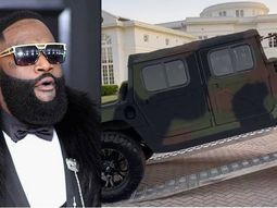American Hip-Hop Artiste, Rick Ross takes home delivery of his new Maybach Military Humvee SUV