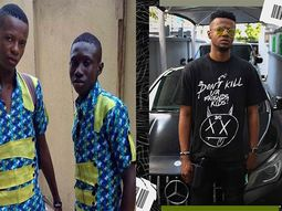 Popular Nigerian indigenous rapper, Zlatan Ibile gifts childhood friend a new Benz car on his birthday