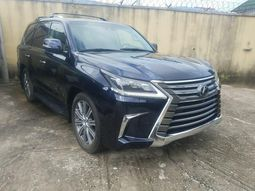 Foreign Used 2016 Blue Lexus LX for sale in Lagos.