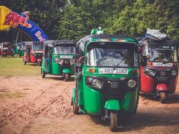 Red Bull drink company sponsors TukTuk (Keke Napep) tournament in Sri Lanka