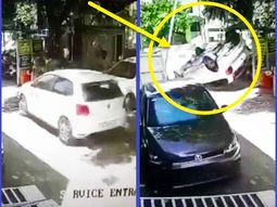Need lessons? Excited driver crashes new car seconds after delivery
