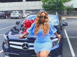Davido's cousin flaunts a new Benz SUV her father gifted her for graduation