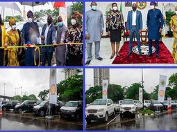 Lagos State Govt receives 16 security vehicles donated by NNPC & SNEPCO