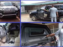 Check out this ₦200m bulletproof Toyota SUV impounded by Nigeria Customs