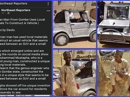 Young Gombe man builds unique car out of local materials