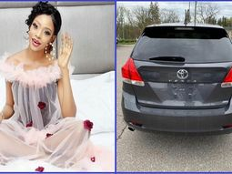 Popular Yoruba movie Actress, Aolat acquires a new Toyota Venza SUV