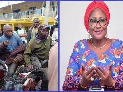COVID-19: Wife of Osun state Governor shares palliatives to Okada riders