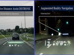 2021 Mercedes-Benz S-Class features a Head-Up display with Aug. Reality