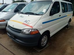 Foreign used Toyota haice bus long frame direct engine