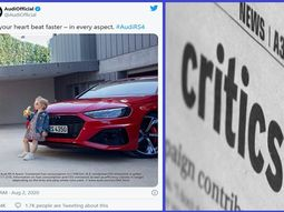 "Critics call out Audi for ""provocative"" Ad photo featuring little girl"