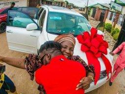 DJ Kaywise gifts mother Toyota Highlander on birthday