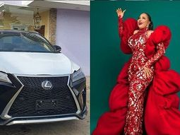 Nollywood director Okiki Afolayan buys his wife a Lexus SUV for her birthday