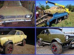 Amazing transformation of an abandoned sedan into a monster off-roader