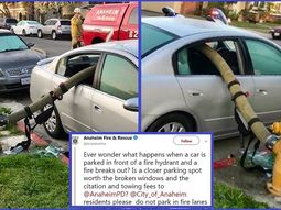 Why Police smash windows of car parked in front of fire hydrant - See reasons!