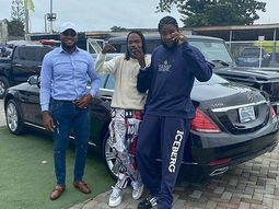 Naira Marley welcomes home new ride, a Mercedes-Benz S-Class