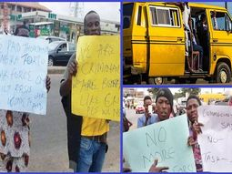 Commercial drivers in Lagos protest alleged extortion by the task force
