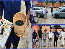 "[Photo] EFCC nabs ""Yahoo"" boys in Oyo with several expensive cars and charms"