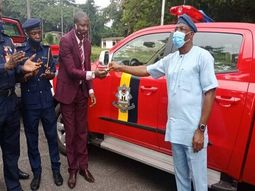 Gov Seyi Makinde of Oyo state donates new trucks to Fire service agency