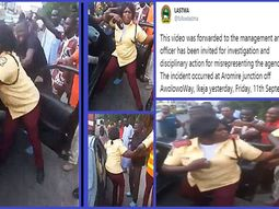 Female LASTMA officer causes social outrage after fight with driver and passenger