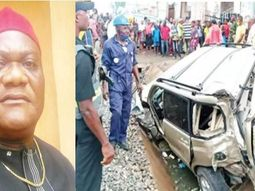 Lagos trader crushed to death by train while trying to save son in SUV