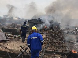 Iju Ishaga: 30 injured, several vehicles and buildings razed in Lagos gas explosion