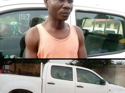 Suspected car thief parade after being nabbed with stolen Toyota Hilux by Nasarawa police