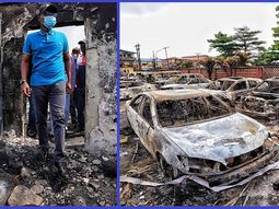 [Photos] FRSC, VIO cars and BRT buses destroyed during recent Lagos riot