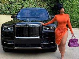 Cardi B flaunts her new Rolls-Royce Cullinan SUV birthday gift
