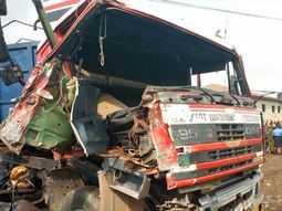 Tragedy struck as truck driver dies in an accident in Lagos